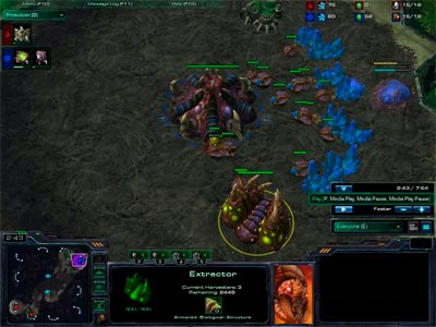 StarCraft 2 Leenocks ZvP All-in: 10 Roach Push