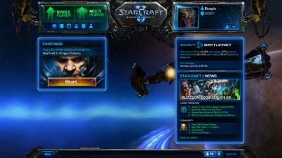 Battle Net 2.0 Dashboard