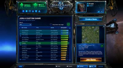Battle Net 2.0 Custom Game