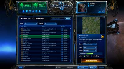 Battle Net 2.0 Create Custum Game
