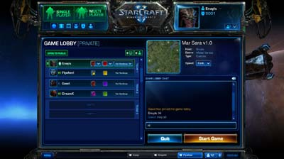Battle Net 2.0 Game Lobby