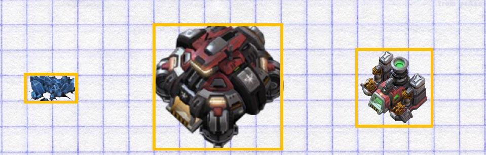Иллюстрация №6: Клеткообразная структура игровой механики в StarCraft 2