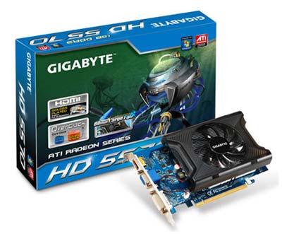 Gigabyte GV-R557OC-1GI Radeon HD 5570 DDR3 Overclocked