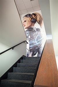 Посвящённый Нове баннер в офисе Blizzard