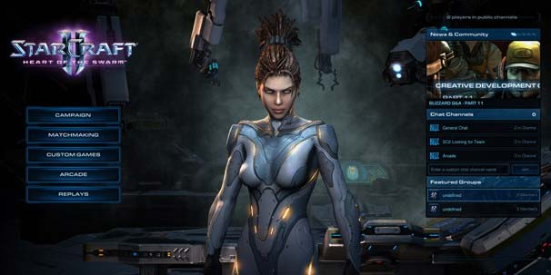 Экран Battle.Net в StarCraft 2 Heart of the Swarm