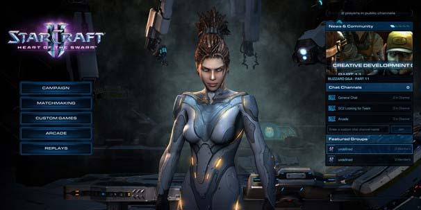 Экран Battle.Net в StarCraft 2 Heart of the Swarm