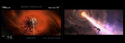 Сравнение кадров из утекшей концовки и свежего трейлера Heart of the Swarm