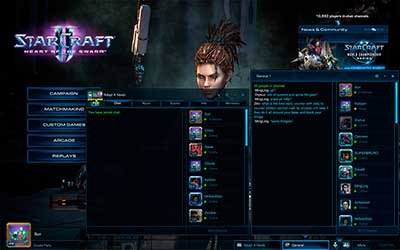 Главный экран в StarCraft 2 Heart of the Swarm
