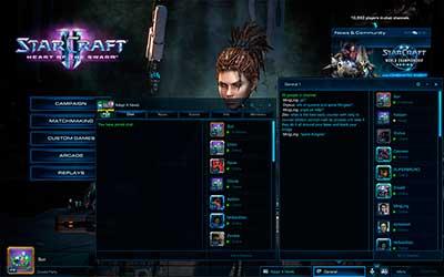Главный экран в StarCraft 2 Heart of the Swarm