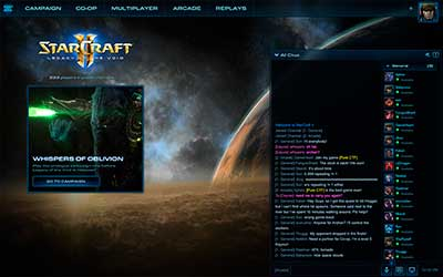 Главный экран в StarCraft 2 Legacy of the Void