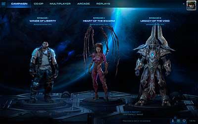 Выбор кампании в StarCraft 2 Legacy of the Void