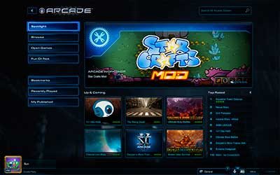 Интерфейс Игротеки в StarCraft 2 Heart of the Swarm