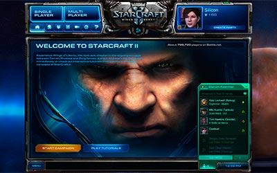 Главный экран в StarCraft 2 Wings of Liberty