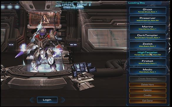 Классы персонажей в StarCraft Universe